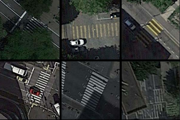 Deep Learning-Based Large-Scale Automatic Satellite Crosswalk Classification