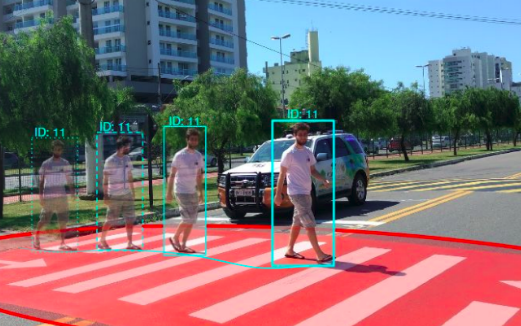Handling pedestrians in self-driving cars using image tracking and alternative path generation with Frenét frames