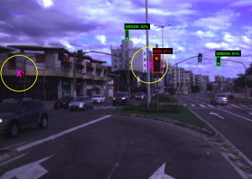 Traffic Light Recognition Using Deep Learning and Prior Maps for Autonomous Cars